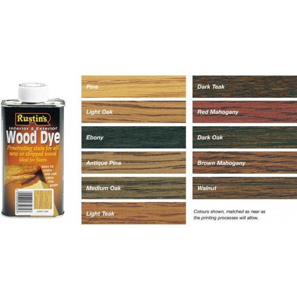 RUSTINS PENETRATING WOOD DYE STAIN FOR INTERIOR ...