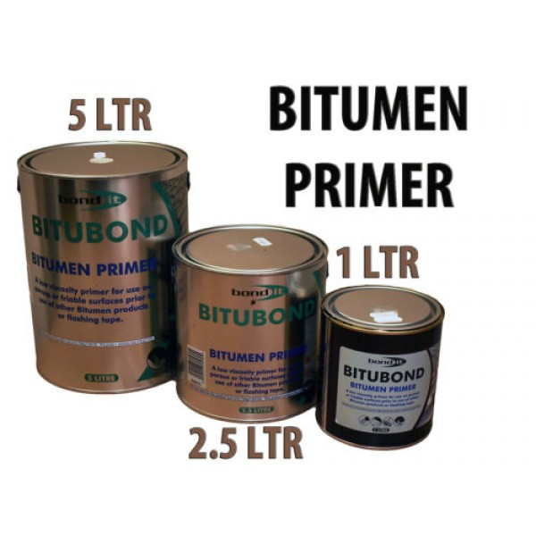 BITUBOND PRIMER BITUMEN PAINT REPAIR ROOF FELT FLASHING TAPE LEAK