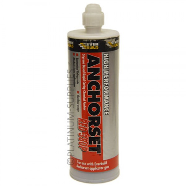 Anchorset Red 380p Everbuild 380ml Chemical Anchor Resin