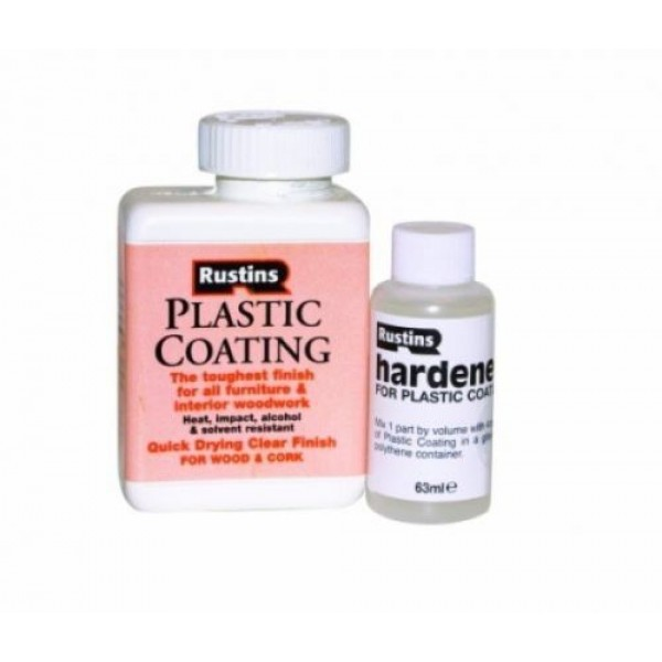 RUSTINS PLASTIC COATING AND HARDENER GLOSS CLEAR CURE
