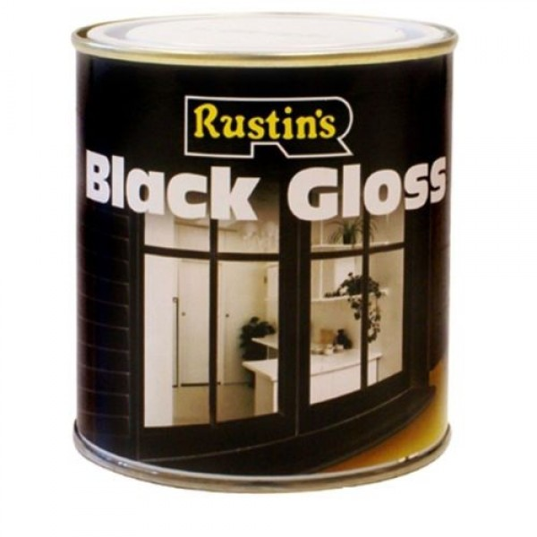 Rustins Black Gloss Paint Wood Metal Interior Exterior Tough Durable I Paints I Platinum