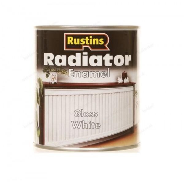 Rustins Radiator Paint Enamel Satin Gloss White Solvent