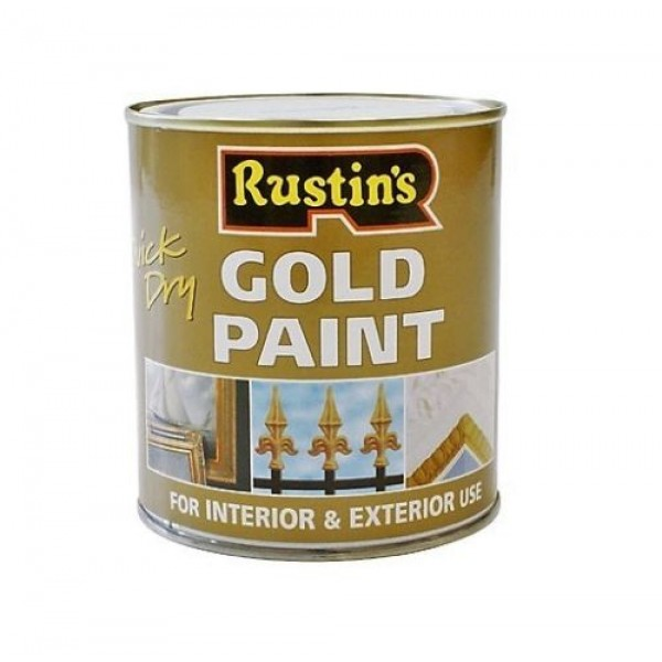 Rustins Gold Paint Quick Dry Interior Exterior For Wood And Metal I Paints Varnishes I
