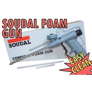 SOUDAL COMPACT PROFESSIONAL PU EXPANDING FOAM GUN APPLICATOR GUN GRADE